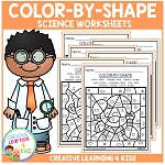 Color By Shape Worksheets: Science ~Digital Download~